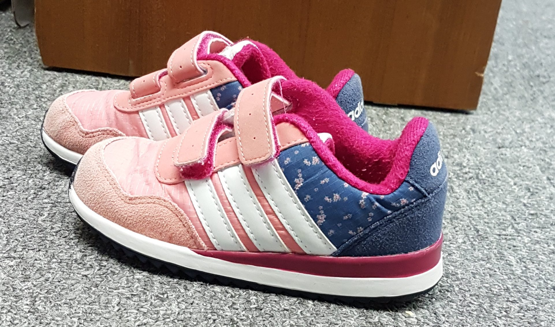 the latest 4702d a5f3e Adidas Neo Trainers Pink Blue Floral 7.5   Treated With Love