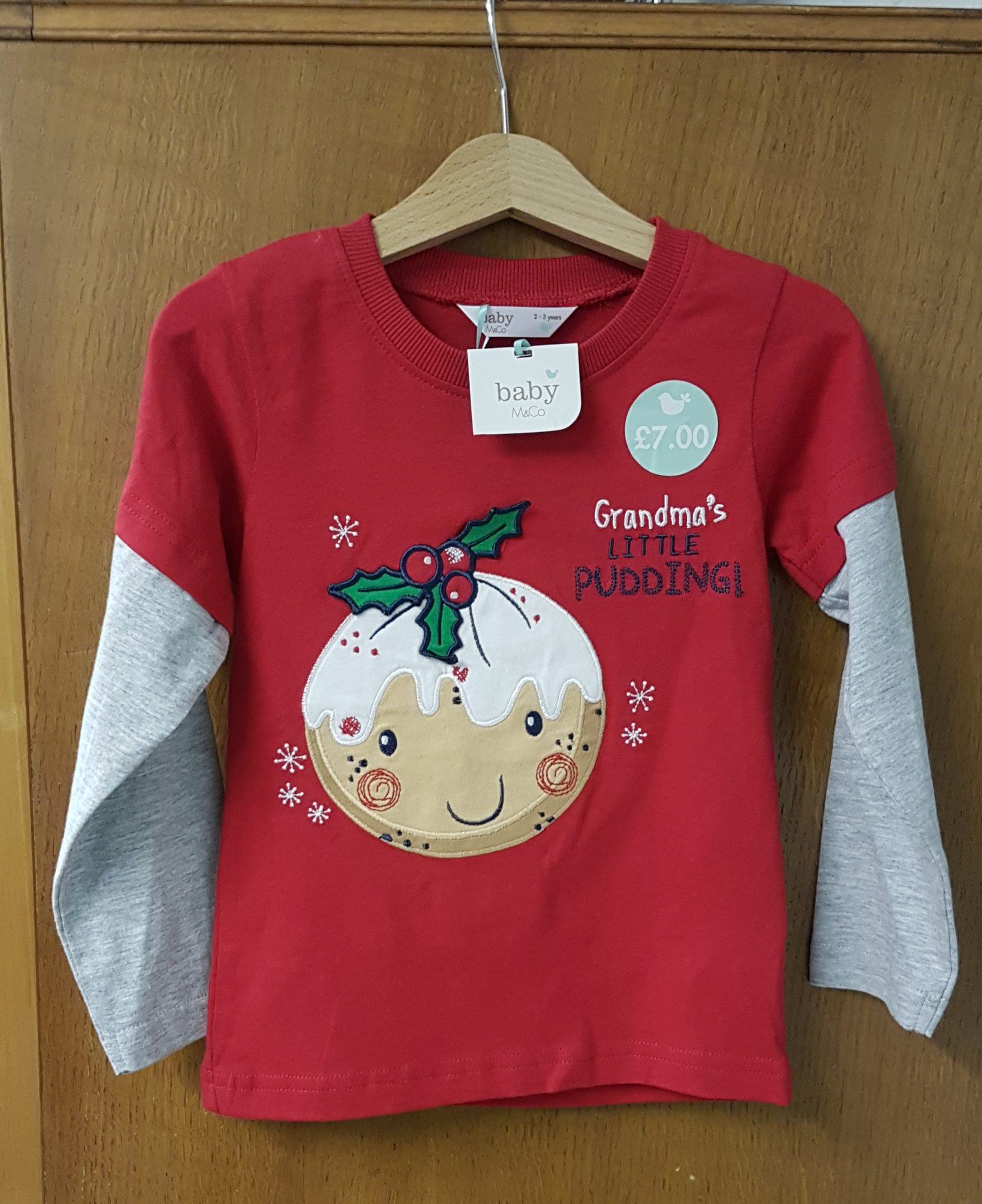 8d84940bf6ced M&Co Boys Top Long Sleeve Christmas Pudding BNWT | Treated With Love